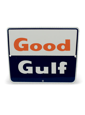 vintage signs good gulf pump plate