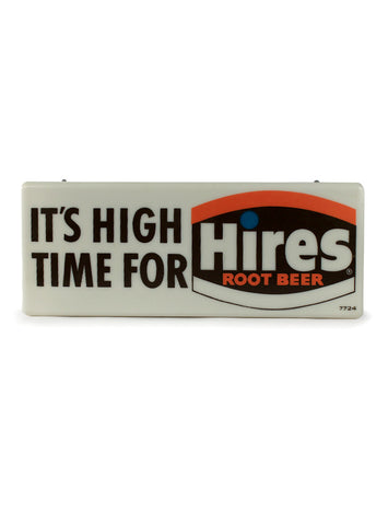 vintage signs its high time for hires lighted sign