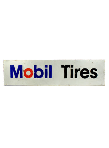 vintage signs mobil tires double sided