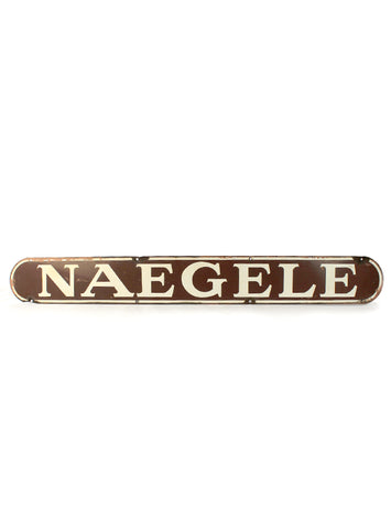 Vintage signs naegele porcelain sign