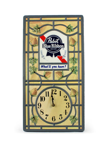 vintage signs pabst blue ribbon clock