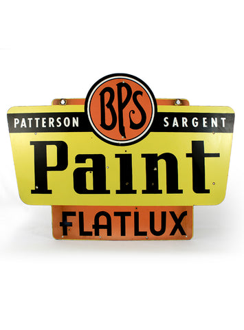 Vintage Signs - Patterson Sargent BPS Paint Flatlux Double Sided Porcelain Sign front