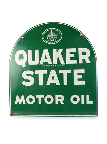 vintage signs quaker state motor oil double sided sign