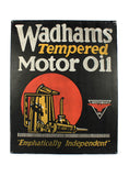 vintage signs wadhams tempered motor oil sign