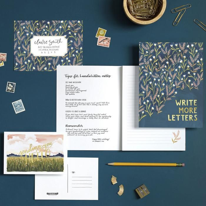 Field Floral Writing Set