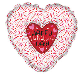 "Heart in Heart Foil 36"" Balloon"