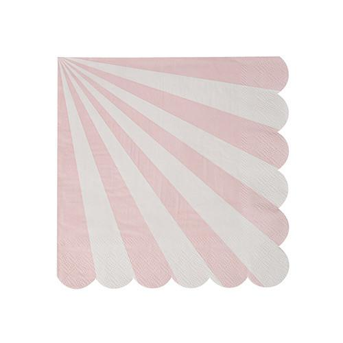dusty pink stripe napkins meri meri