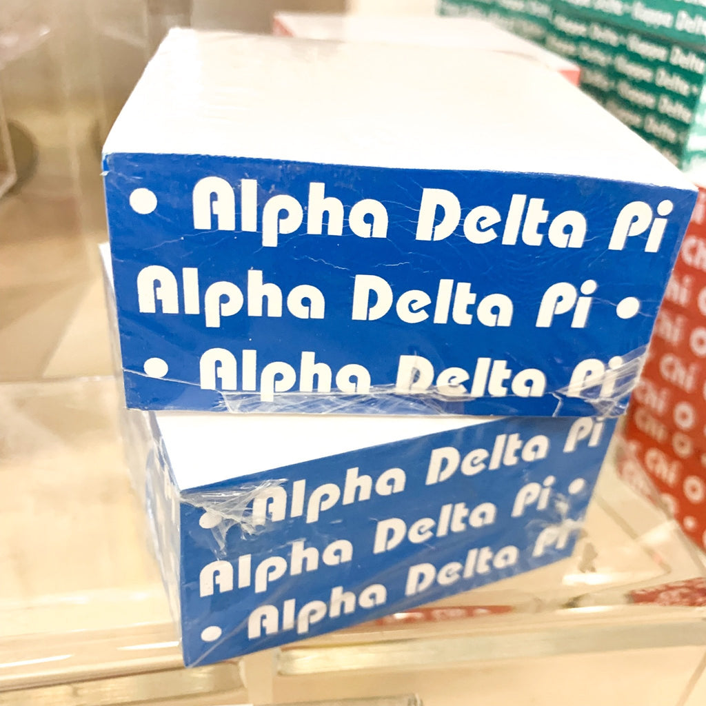 Sorority Memo Cubes (Choose Style)