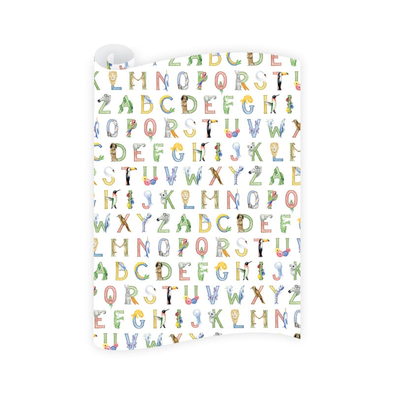 Animal Alphabet Wrapping Paper