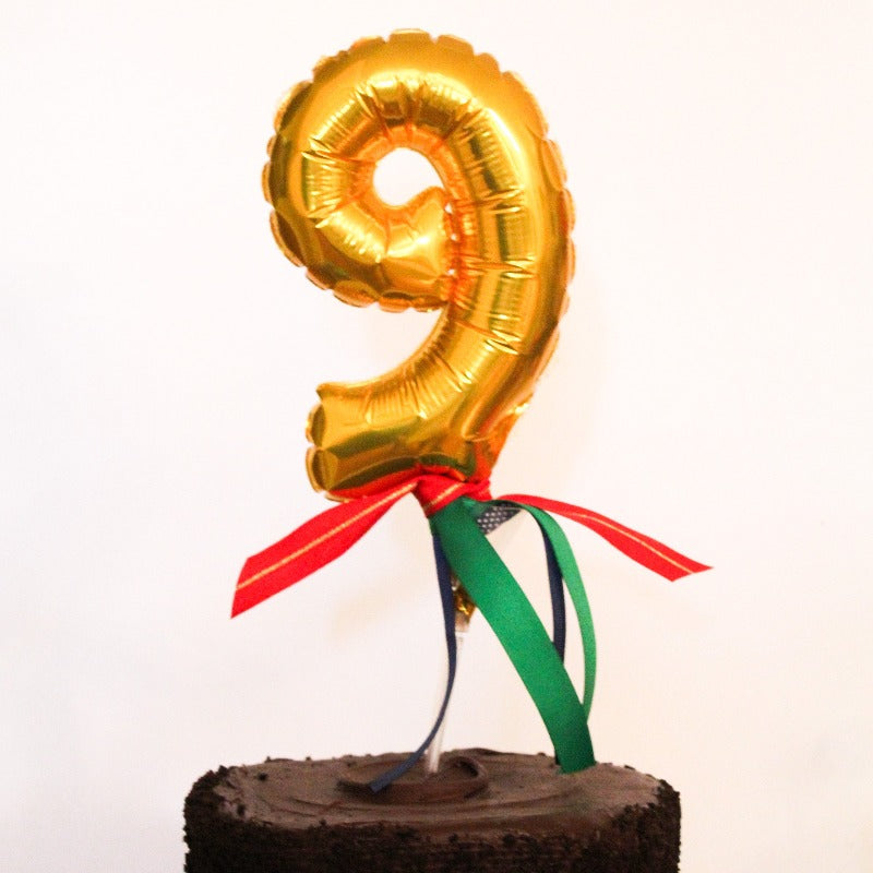 Balloon Number Cake Topper