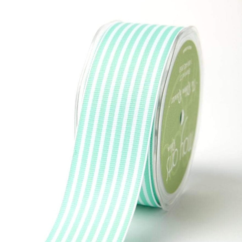 robins egg blue aqua stripe