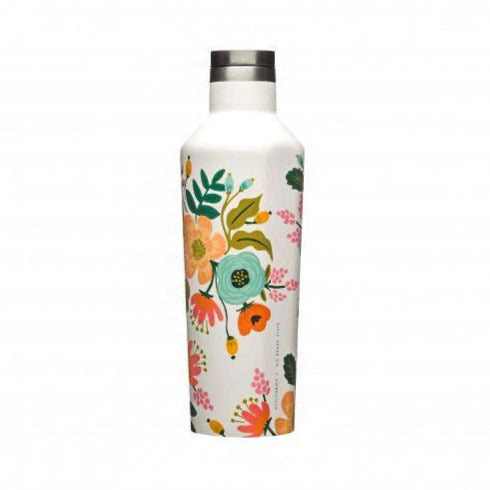 Corkcicle Lively Floral Cream Canteen 16 oz.
