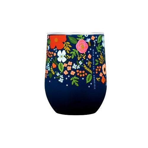 Corkcicle Navy Wild Rose Stemless