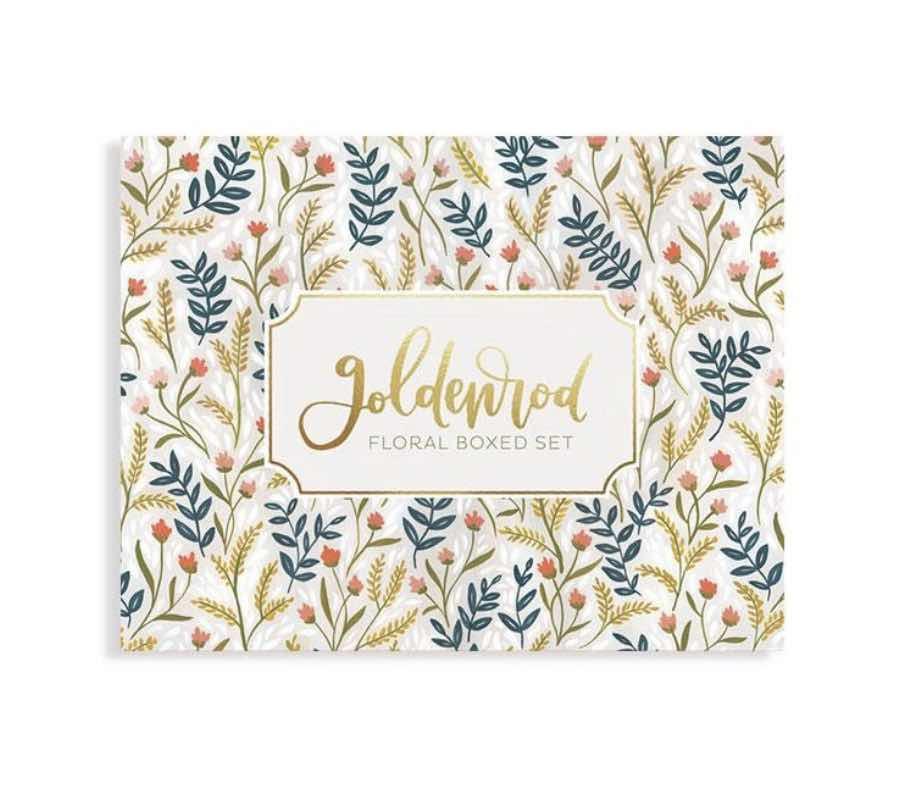 Goldenrod Floral Note Set