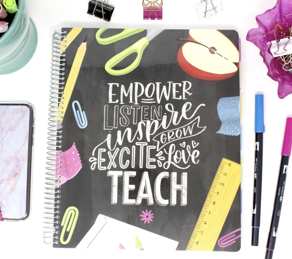 Teacher Planner, Chalkboard - Undated