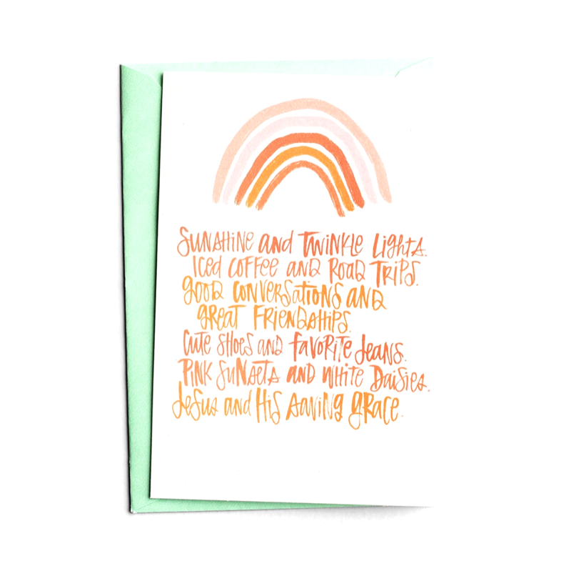 Sunshine Twinkle Lights Birthday Card