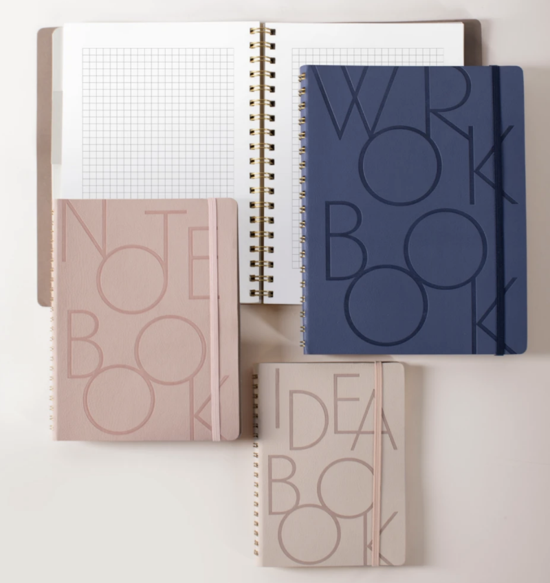 Bold Type Navy Large Workbook