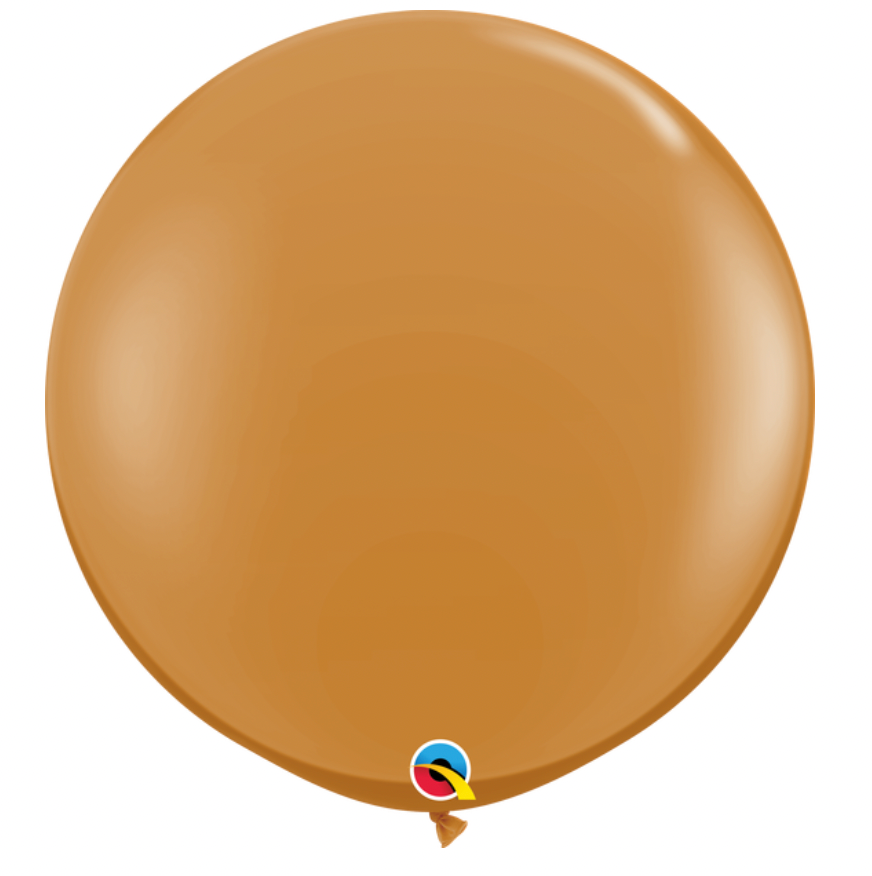 3' Mocha Brown Jumbo Balloon