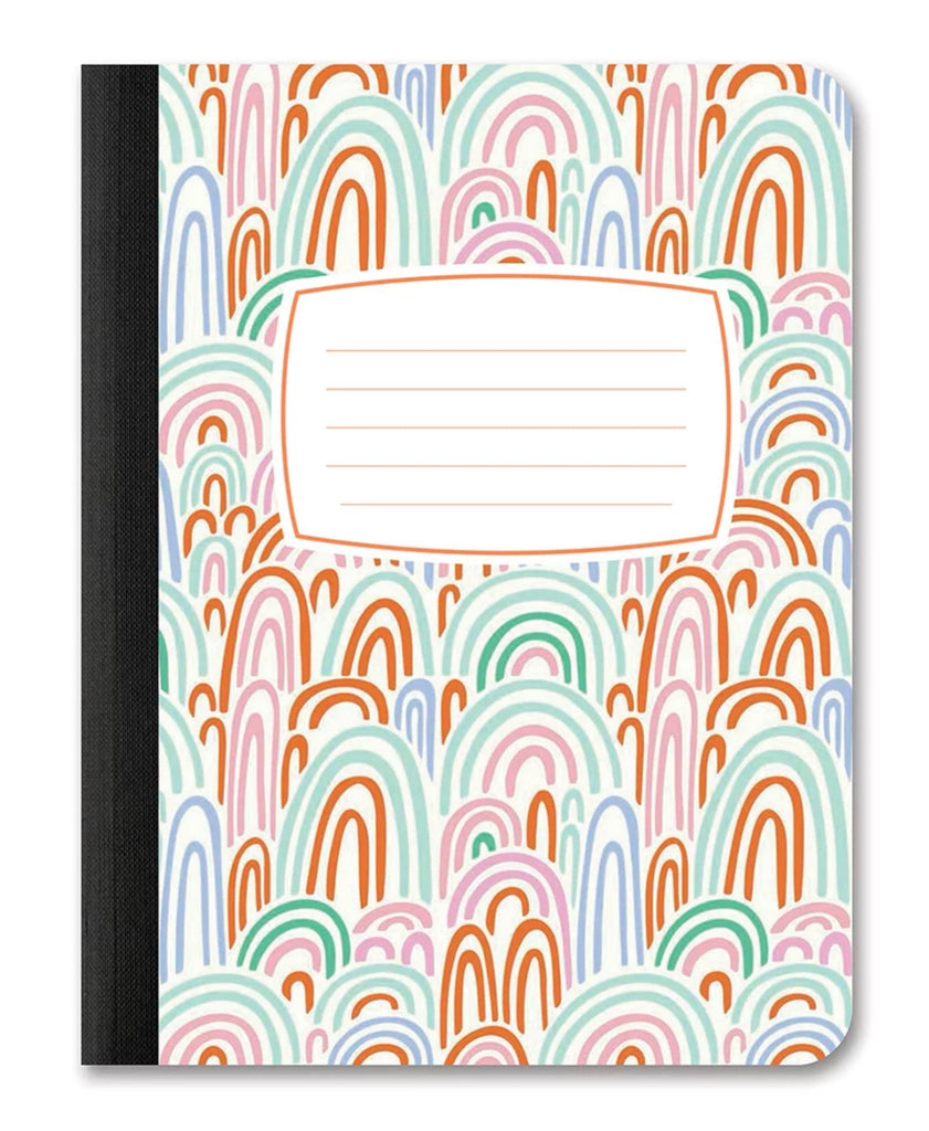 Rainbow Abstract Composition Notebooks