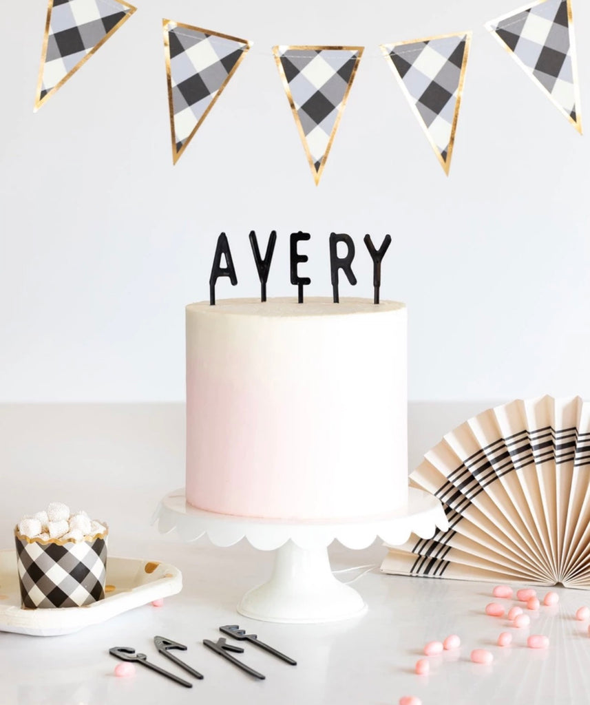 Letterboard Cake Toppers - Black