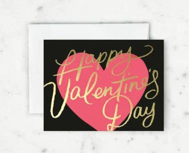 Fair Script Valentines Card