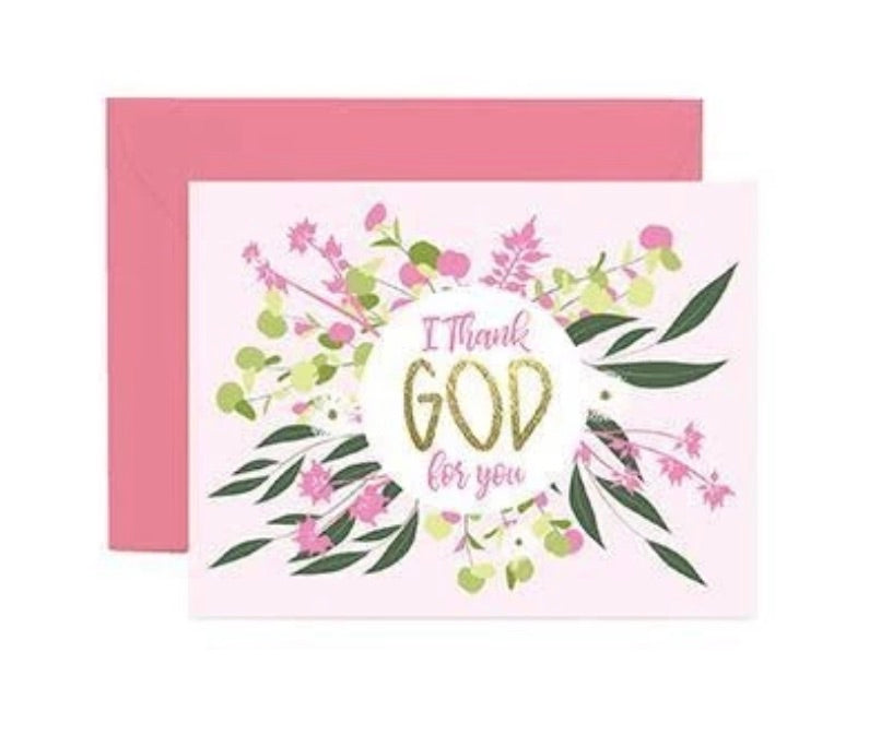 Thank God for You Card