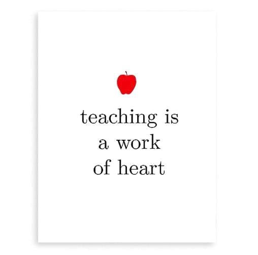 Teaching Heart Card