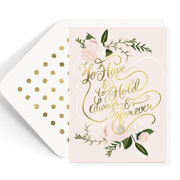 the first snow wedding card