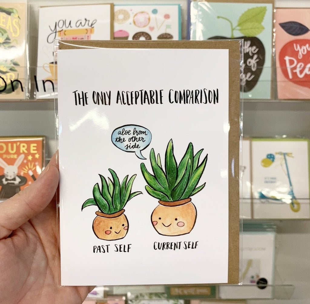 Aloe Comparison Plants Greeting Card