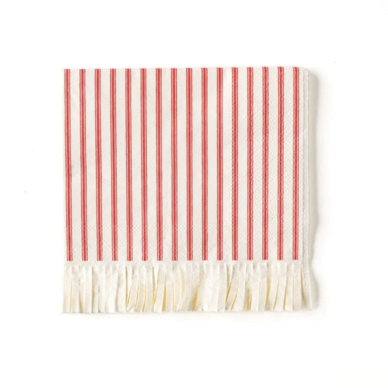 red ticking stripe napkin MME