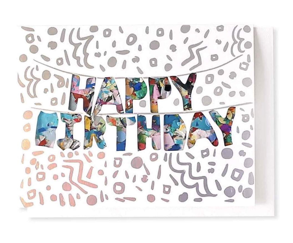 Birthday Banner Confetti Card