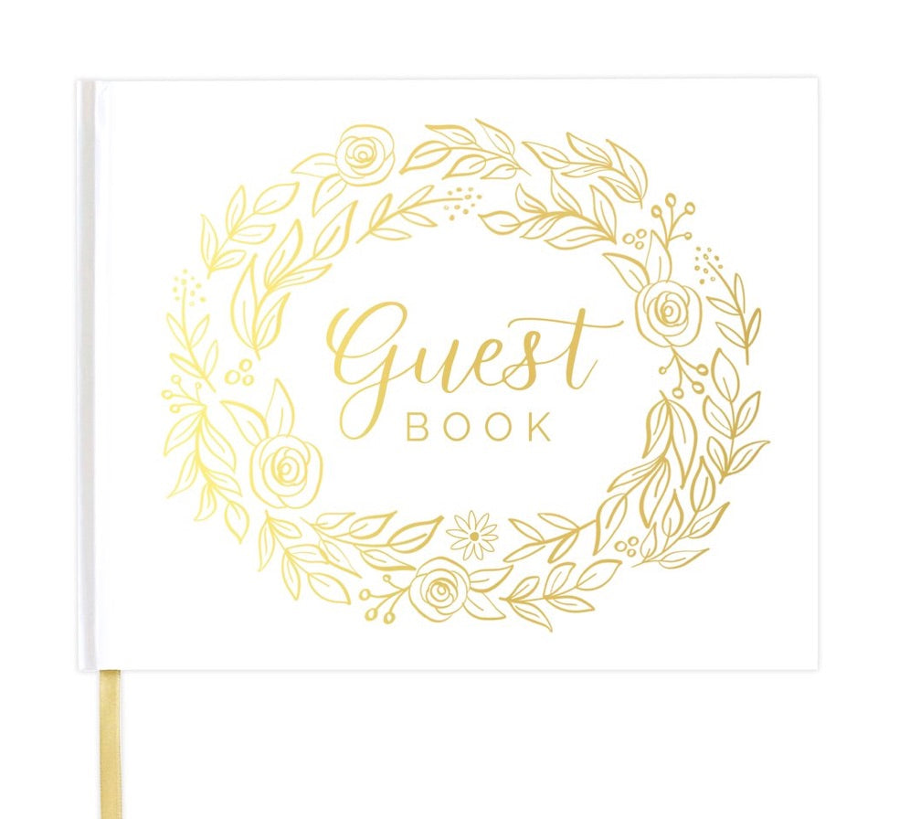 bloom wedding guest book