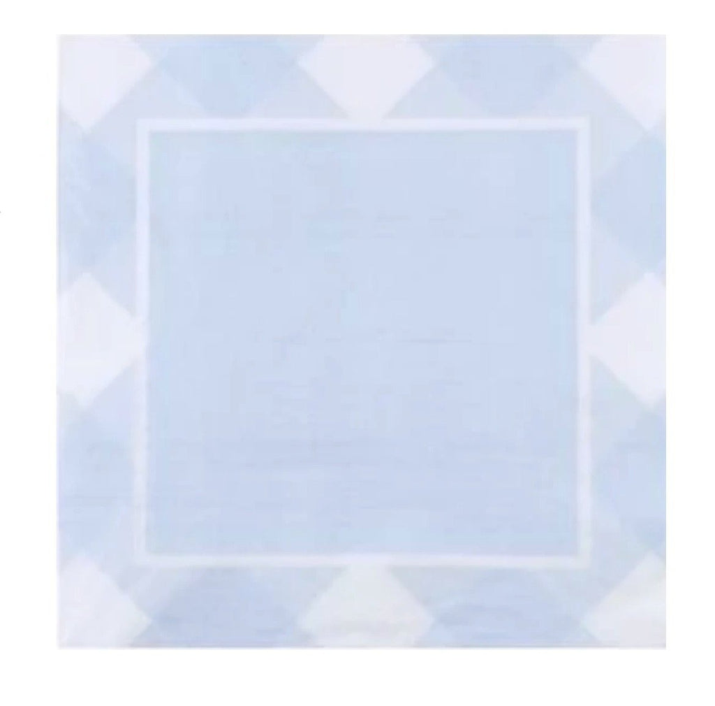 blue gingham napkin
