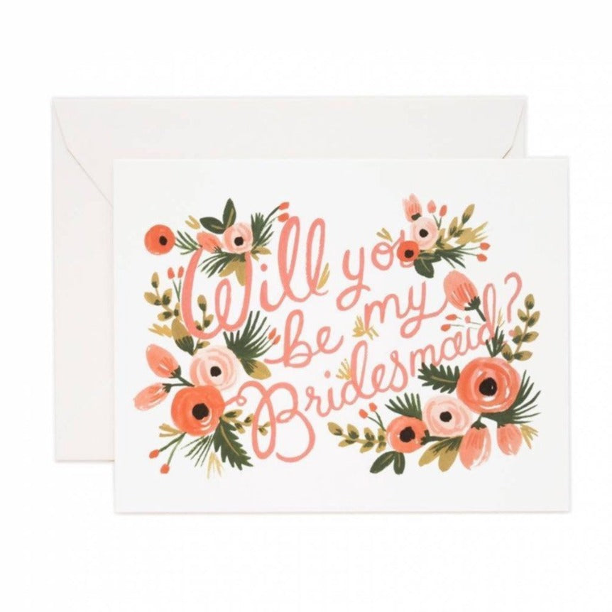 Bridesmaid Card - Print&Paper