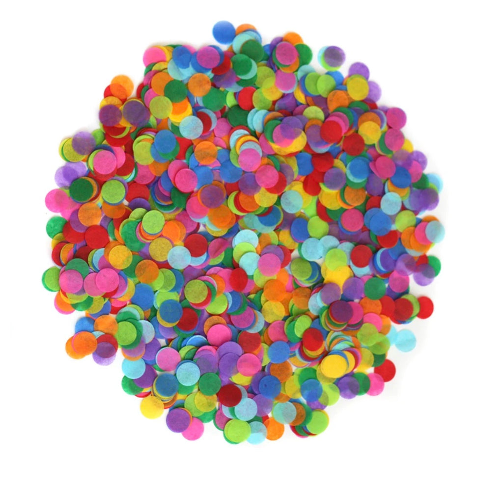 Bright Rainbow Loose Confetti