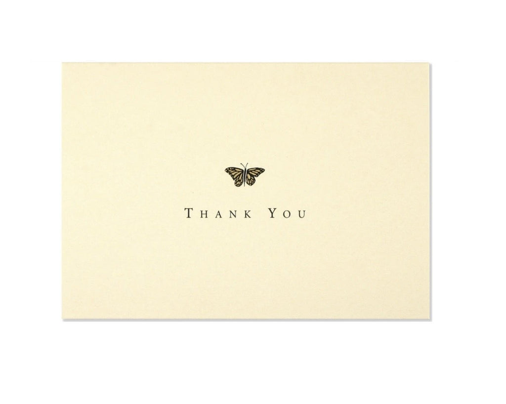 butterfly thank you note
