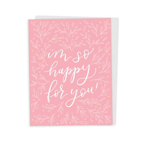 So Happy for You Florals Card