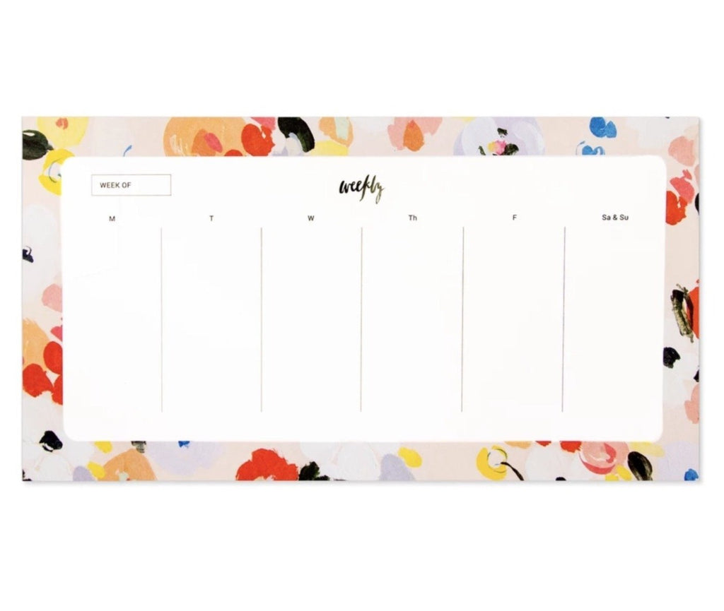 our heiday weekly planner pad