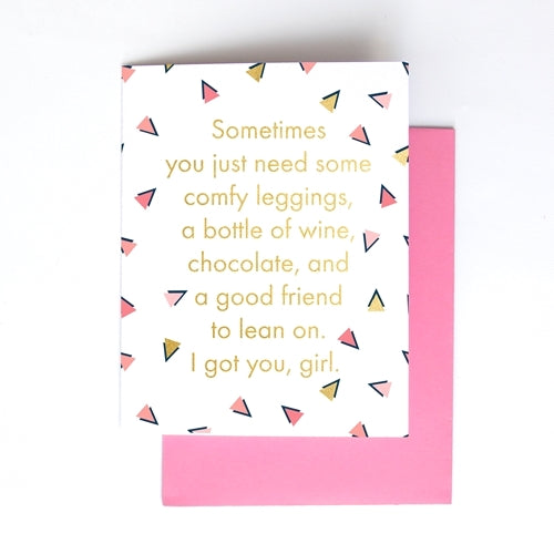 Comfy Leggings Greeting Card