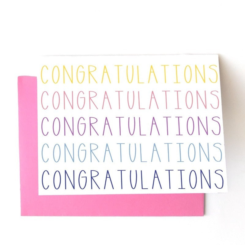 Congratulations Rainbow Greeting Card