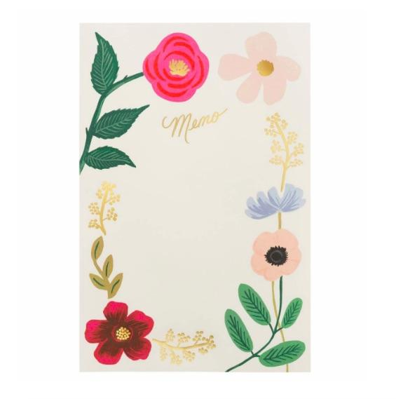 Rifle floral notepad