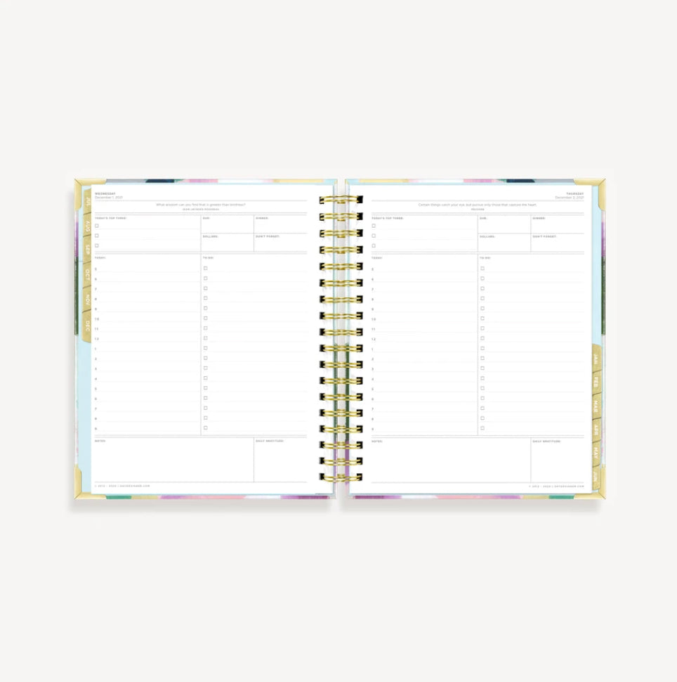 2021-2022 Daily Planner: Blissful