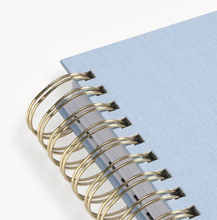 2021-2022 Daily Planner: Blue Chambray Bookcloth