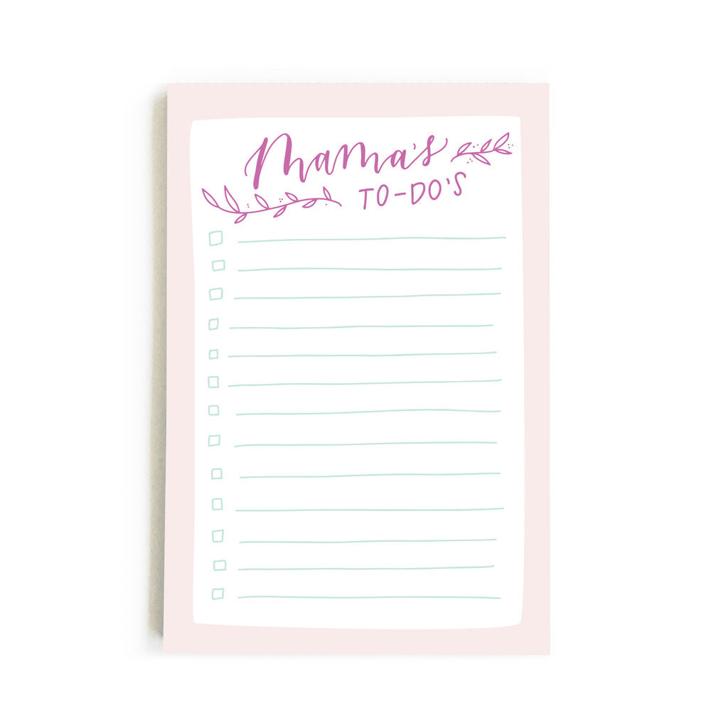 happy tines notepad mama's to do