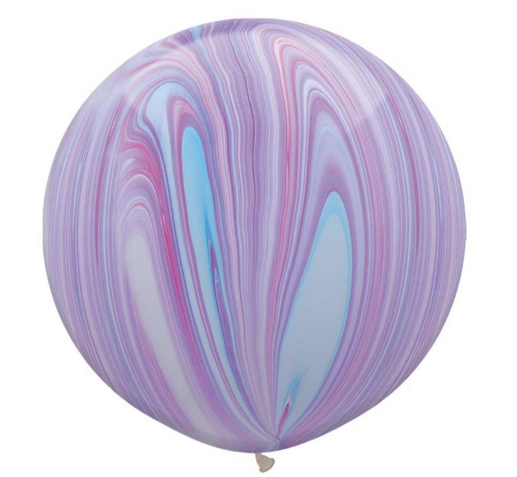purple marble balloon