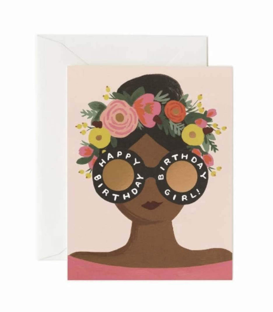 Flower Crown Birthday Girl Card - Print&Paper