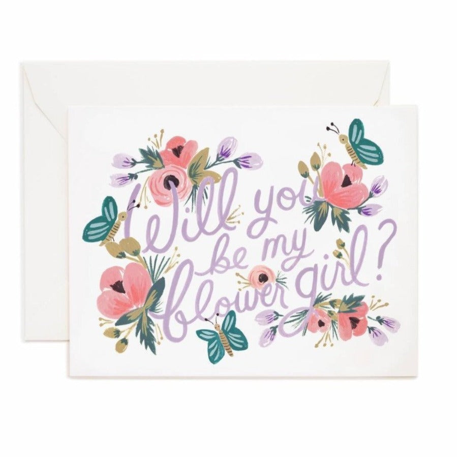 rifle paper flower girl card