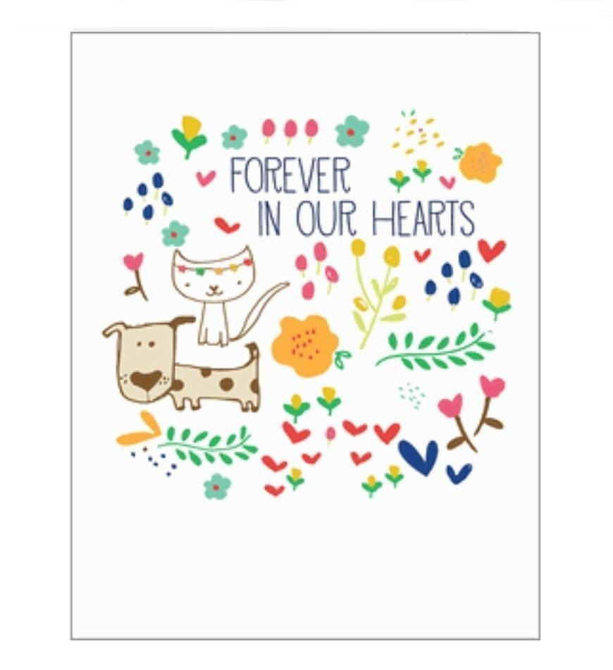 Forever In Our Hearts Pet Sympathy Card