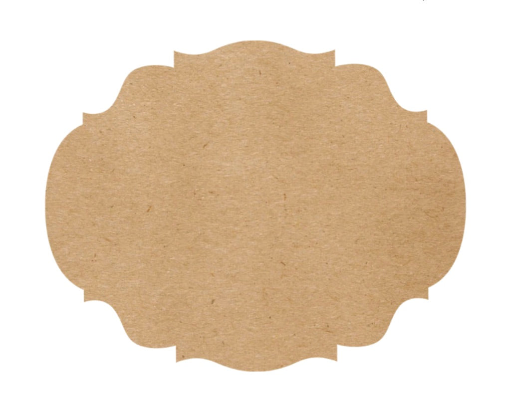 French Frame Kraft Placemats