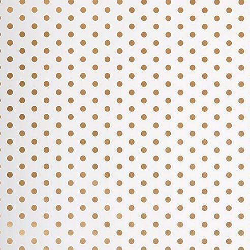 Gold Dots Wrapping Paper - continuous roll - Print&Paper